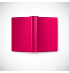 Open blank book cover top view vector image vector image