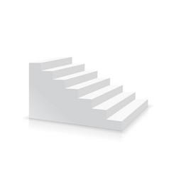 realistic white stair side view vector image