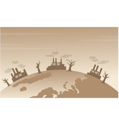 silhouette of bad environment from world vector image vector image