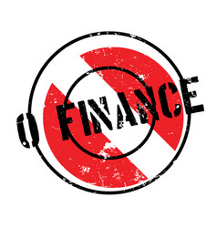 0 finance rubber stamp vector image