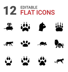 12 cat icons vector