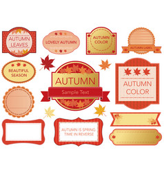 a set of various label in aut vector image