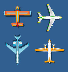 airplane plane top view and vector image