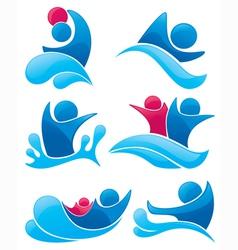 Aqua park symbols vector