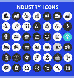 big industry icon set trendy line icons vector image