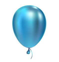 Blue helium balloon birthday baloon flying vector