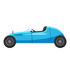 Blue sport car icon isometric 3d style vector