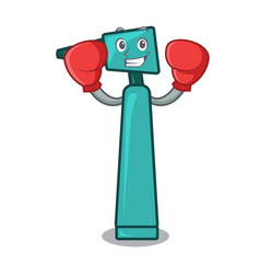 boxing otoscope character cartoon style vector image