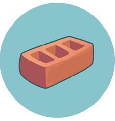 Brick icon construction building vector