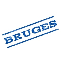 Bruges Watermark Stamp vector