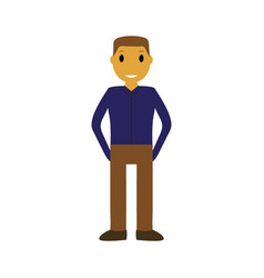 cartoon man on a white background vector image