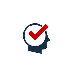 check human head logo icon design vector image