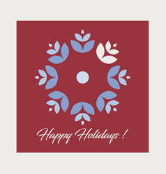 christmas card holiday greetings card vector image