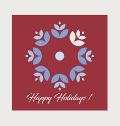 Christmas card holiday greetings card vector