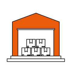 Color silhouette cartoon orange storage cellar vector
