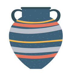 Crockery container with handles isolated vase vector