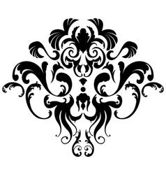 Damask emblem vector