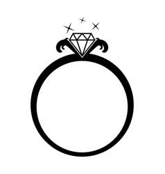 Diamond jewelery ring vector