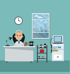 Doctor office professional practitioner vector