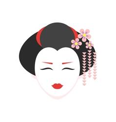 flat style of geisha vector image