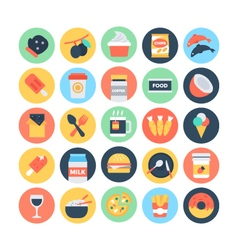 Food Flat Icons 12 vector image