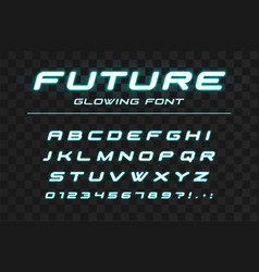 future glowing font fast sport futuristic vector image