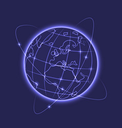 glowing earth vector image