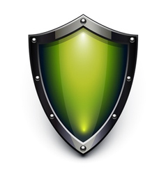 Green security shield vector