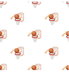 hand with a ball near the basketbasketball vector image