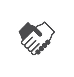 handshake icon for web business finance and vector image