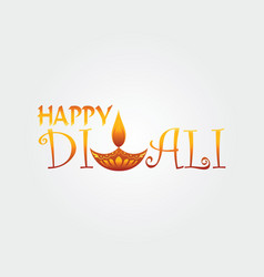 happy diwali logo design template vector image