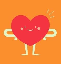 Happy heart feeling good vector