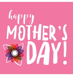 Happy Mothers Day Message vector