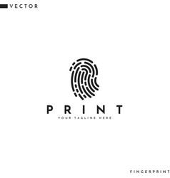 Human fingerprint logo vector