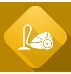 icon of Vacuum Cleaner with a long shadow vector image