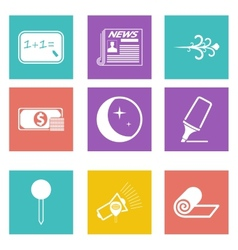 Icons for Web Design and Mobile Applications set 8 vector