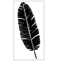 Isolated palm leaf on white background vector