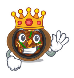 King bulgogi isolated with in character vector