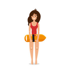 Lifeguard woman vector