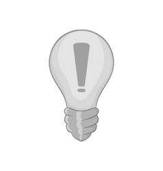 Light bulb idea icon black monochrome style vector