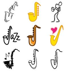 Logo icons saxophon vector