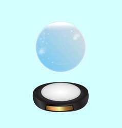magical glowing ring background vector image