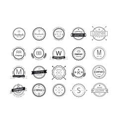 Massive logo badges template bundle vector