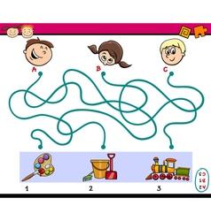 Maze paths task for children vector