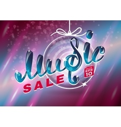 Music christmas sale vector image