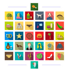 nature tourism textiles and other web icon in vector image