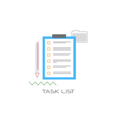 paper document task check list clipboard project vector image