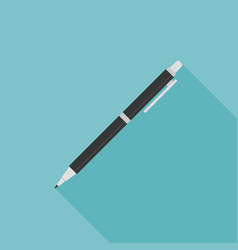 pen or pencil icon with long shadow vector image