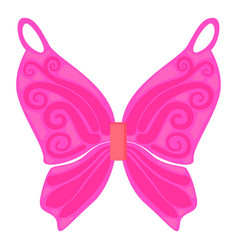 Pink fairy wings icon cartoon style vector