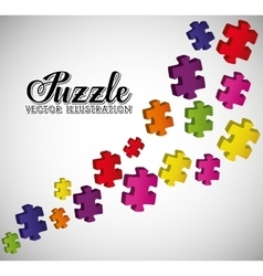 Puzzle pieces and big ideas vector image